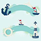 航海横幅 — 图库矢量图片