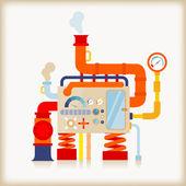 Factory machine — Stock Vector