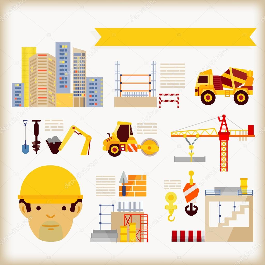 Building construction stock vector 47405695 for Construction info