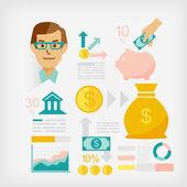 Money saving guides — Stock Vector
