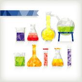 Chemistry Glassware — Stockvektor