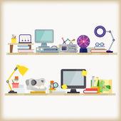 Office workspace — Stock Vector