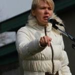 Yevgeniya Chirikova. Environmental rally in Tomilino — Foto de Stock