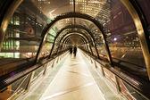 Night on a modern footbridge — Stock Photo