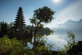 Temple on Lake Batur, Bali Island — Stock Photo