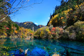 Colorful lakes, sichuan, China. — Stock Photo