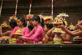 Balinese maidens — Stock Photo