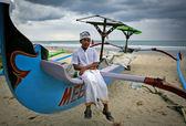 Unidentified Balinese boy — Foto de Stock
