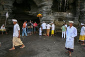 Balinese Hindu devotees — Stock Photo