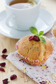 Muffins with cranberries and oatmeal — Stock Photo