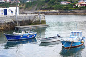 Three boast in an Asturian port — ストック写真