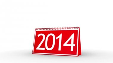 New Year 2014 Calendar (with Matte) — Stock Video