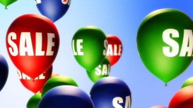 Balloons Sale (Loop) — Stock Video