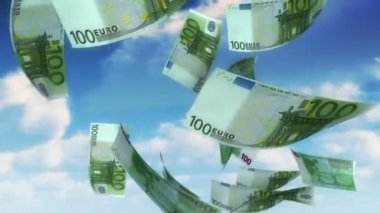 Money from Heaven - EUR (Loop) — Wideo stockowe