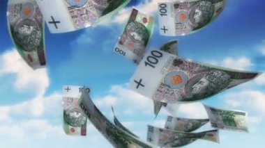 Money from Heaven - PLN (Loop) — Stock Video