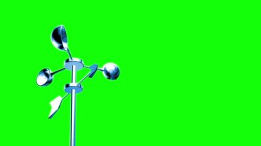 Anemometer (Loop on Green Screen) — Stock Video