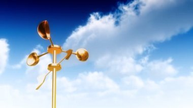 Anemometer Gold (Loop) — Stock Video