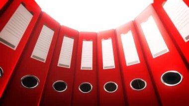 Office Binders Circle (Loop) — Stock Video