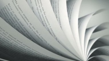 Turning Pages (Loop) Russian Book — Stock Video