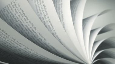 Turning Pages (Loop) Greek Book — Stock Video