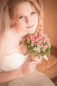 Krásná nevěsta portrét — Stock fotografie