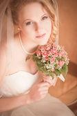 Retrato de novia hermosa — Foto de Stock