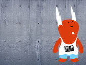 Numb one character on concrete wall — Stock Photo