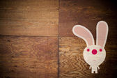 Albino Rabbit character — Stock Photo