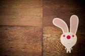 Albino Rabbit character — Stock Photo