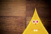 Yellow horned character — Stockfoto