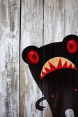 Evil bear face — Stock Photo