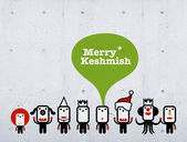 Merry Keshmish characters — Stock Photo
