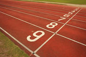 Race Track in Football Stadium — Stock Photo