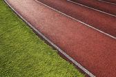 Race Track in Football Stadium — Stock Photo