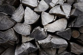 Dry chopped firewood logs — Stock Photo