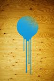 Blue paint splatter — Stock Photo