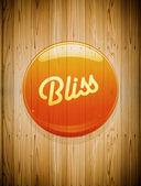 Bliss button icon — Stock Photo