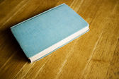 Book with blue  blank cover — Stock fotografie