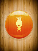 Icon on Wooden background — Stock Photo