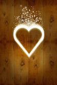 White love heart — Stock Photo