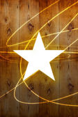 Star on wall — Stock Photo