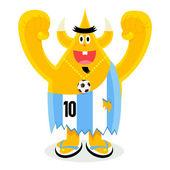 Argentina football fan — Stock Vector