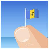 Barbados flag — Stock Vector