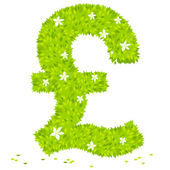Pound sterling shaped — Stock Vector