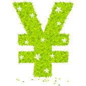 Yen currency symbol — Stock Vector