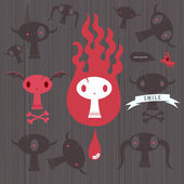 Hell creatures — Stock Vector