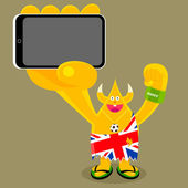 Union Jack mobile gadget — Stock Vector