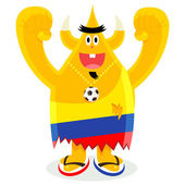 Colombian Football Fan — Stock Vector