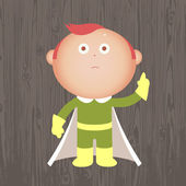 Red haired boy in costume — Stock Vector