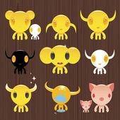Cute monsters — Stock Vector